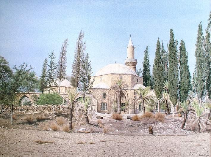(Fotoğraf: Hala Sultan türbesi, Kıbrıs)